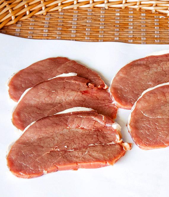 filetes de redondo de ternera lechal lemos