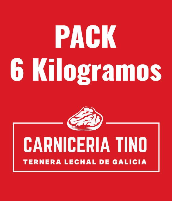 pack 6kg ternera lechal seleccionada